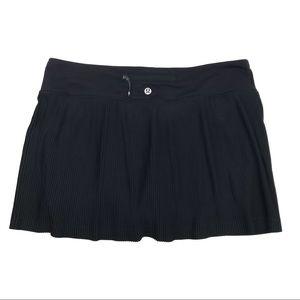 Lululemon Pleat to Street III Black Skirt Skort 8